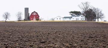 Het landbouwbedrijf van het land stock afbeeldingen