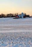 Het Landbouwbedrijf van Maryland in de Sneeuw royalty-vrije stock foto