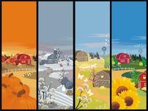 Het landbouwbedrijf van seizoenen Stock Foto