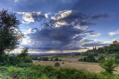 Het Landbouwbedrijf van Toscanië Stock Afbeelding