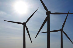 Het Landbouwbedrijf van windturbines Royalty-vrije Stock Afbeeldingen