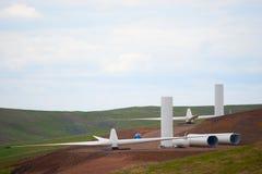 Het landbouwbedrijfconstrucrion van de wind royalty-vrije stock fotografie