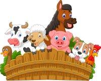 Het landbouwbedrijfdieren van de beeldverhaalinzameling Stock Afbeelding