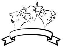 Het Landbouwbedrijfembleem royalty-vrije illustratie