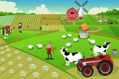 Het landbouwbedrijfleven royalty-vrije illustratie