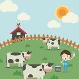 Het landbouwbedrijfleven Stock Illustratie