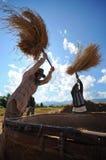 Het landbouwersleven in noordelijk van Thailand Stock Foto's