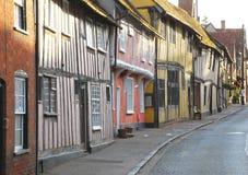 Het landelijke dorp van East-Anglia Royalty-vrije Stock Foto
