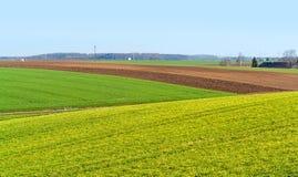 Het landelijke landschap van de de lentetijd royalty-vrije stock foto's