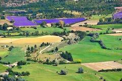 Het landelijke landschap van de Provence Stock Afbeelding