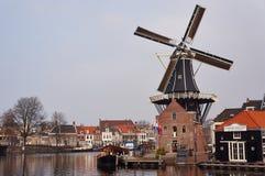 Het landelijke landschap van de windmolen Royalty-vrije Stock Foto
