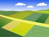 Het landelijke landschap van de zomer Stock Fotografie