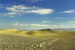 Het landelijke landschap van Toscanië stock foto's