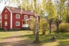 Het landelijke leven in Zweden. Stock Foto's