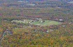 Het landelijke platteland van de herfst Stock Foto