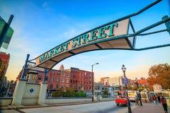 Het Landen en de Marktstraat van Penn in Philadelphia royalty-vrije stock foto's