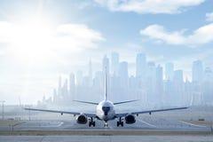 Het landen Jetplane Royalty-vrije Stock Afbeelding