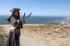 Het Landen van de piraat royalty-vrije stock afbeeldingen