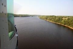 Het Landen van Floatplane Royalty-vrije Stock Foto