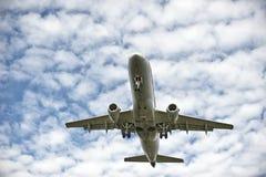 Het landen van het vliegtuig Royalty-vrije Stock Fotografie