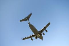 Het Landen van het vliegtuig Stock Afbeeldingen