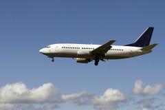 Het landen van het vliegtuig royalty-vrije stock foto