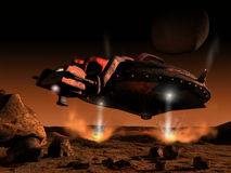 Het landen van Mars stock illustratie
