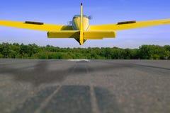 Het landen van vliegtuigen stock fotografie
