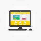 Het landen vectorillustratio van de paginadesktop royalty-vrije illustratie