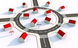 Het landgoed van de huisvesting in suburbs2 Royalty-vrije Stock Foto's