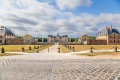 Het landgoed van vaux-le-Vicomte, Frankrijk Stock Afbeelding