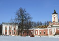 Het landgoed in Yaropolets dichtbij Volokolamsk, dat door Zagryazhsky wordt bezeten, die tweemaal door Pushkin werd bezocht stock foto's