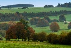 Het landlandschap van de herfst stock fotografie