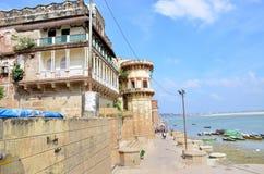 Het landschap beschermde de Rivier van Ganges in India Stock Foto
