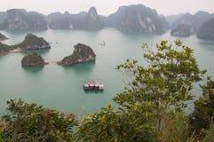 Het landschap bij Ha snakt Baai Vietnam Stock Fotografie