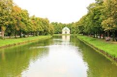 Het landschap bij het paleis Nymphenburg Stock Fotografie