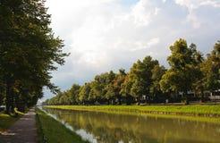 Het landschap bij het paleis Nymphenburg Royalty-vrije Stock Foto