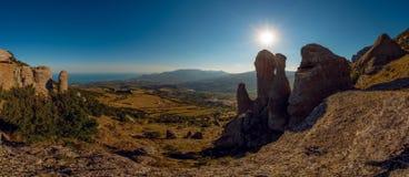 Het landschap de Krim van de schoonheidsaard Stock Foto