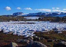 Het landschap en de bergen van Noorwegen Stock Fotografie
