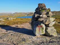 Het landschap en de bergen van Noorwegen Stock Afbeeldingen