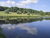Het landschap in kasteel Howard, Engeland, het Verenigd Koninkrijk royalty-vrije stock foto's