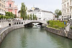 Het landschap in Ljubljana, Slovenië stock fotografie
