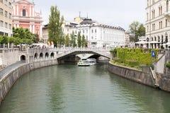 Het landschap in Ljubljana, Slovenië stock afbeelding