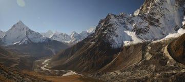 Het landschap Nepal van Himalayagebergte Stock Afbeelding