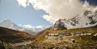 Het landschap Nepal van Himalayagebergte Stock Foto