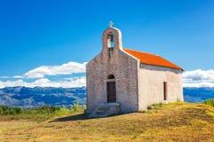 Het landschap onder de bergen van het nationale park Paklenica royalty-vrije stock afbeeldingen