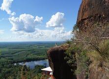 Het landschap op de bovenkant van de bergen Stock Afbeelding