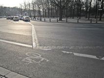 Het landschap op de straten van Berlijn Royalty-vrije Stock Foto's