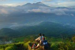 Het landschap in Penanggungan zet op Royalty-vrije Stock Fotografie