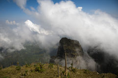 Het landschap in simien bergen, Ethiopië Royalty-vrije Stock Afbeelding